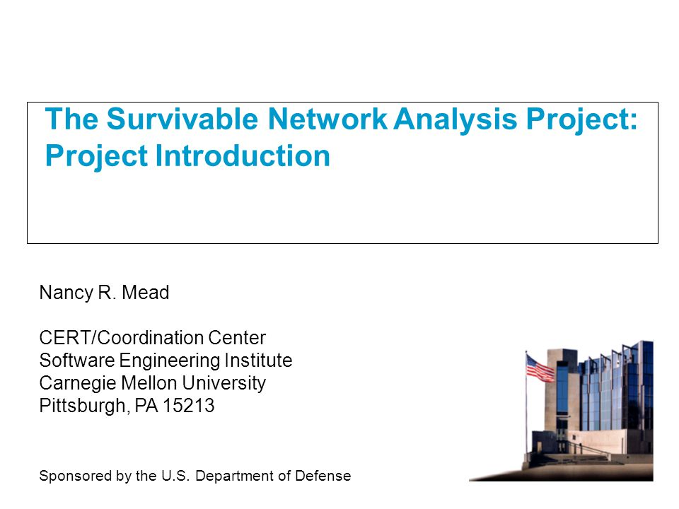 The Survivable Network Analysi...