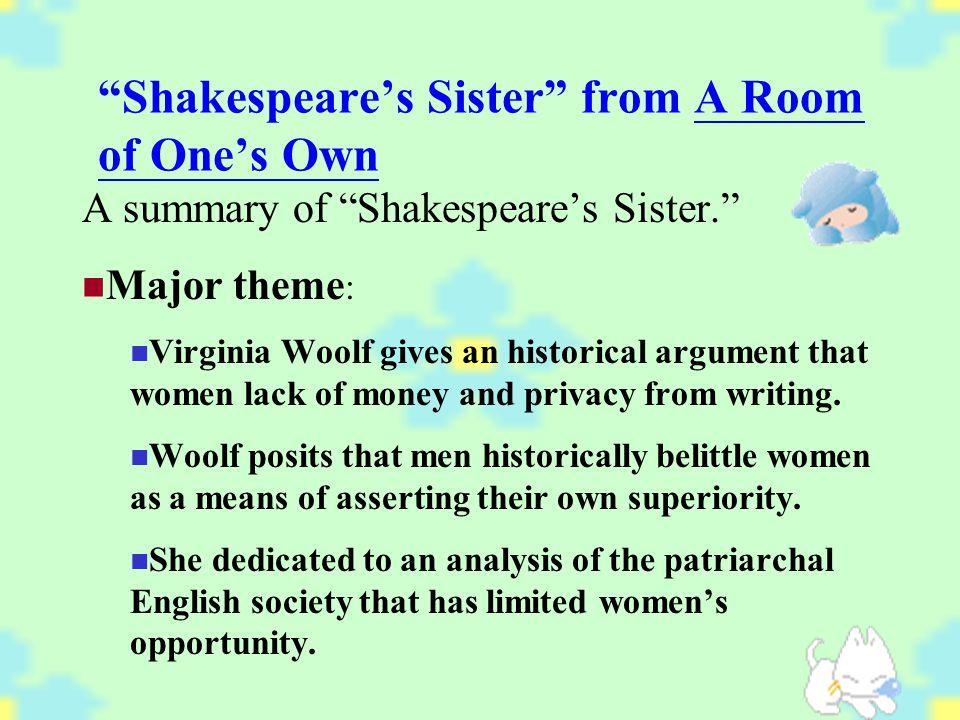summary of shakespeares sister