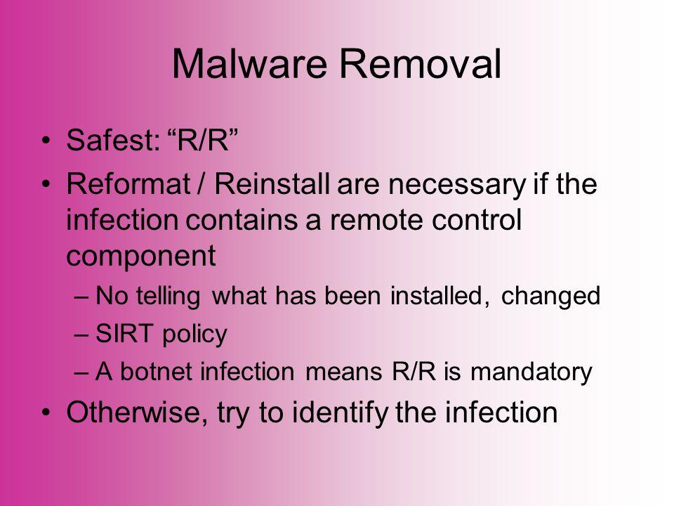 Windows Malware: Detection And Removal TechBytes Tim Ramsey