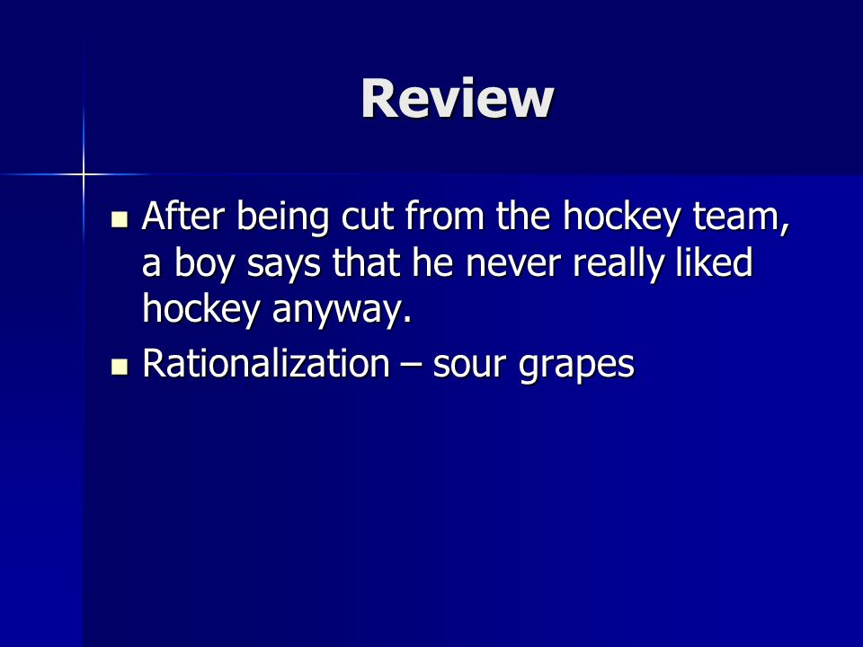 sour grapes rationalization