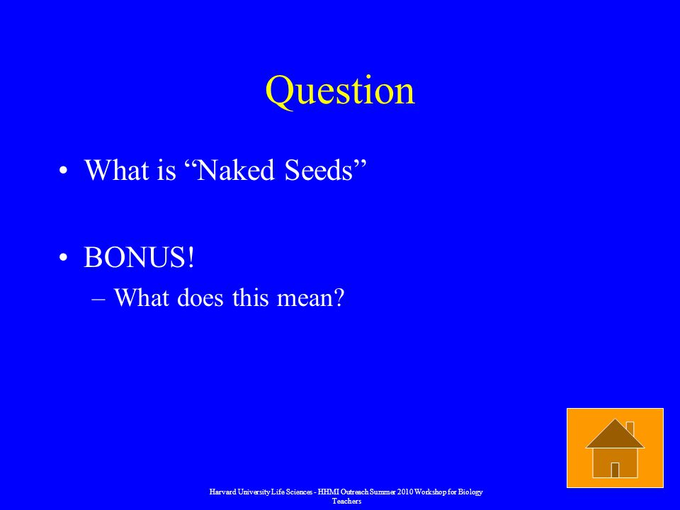 Question What is Naked Seeds BONUS. –What does this mean.