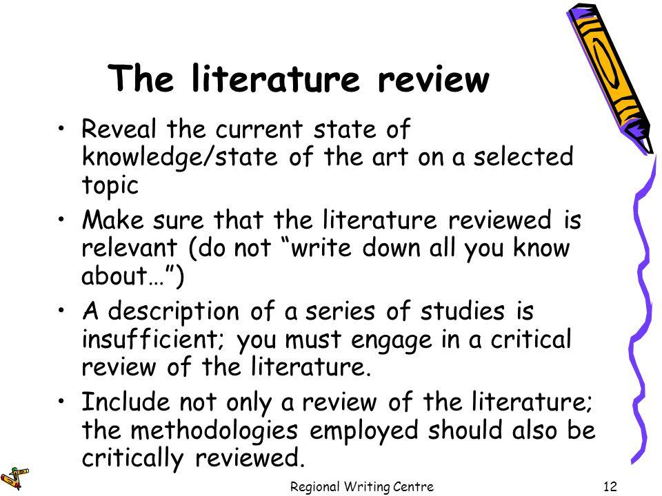 uefap literature review