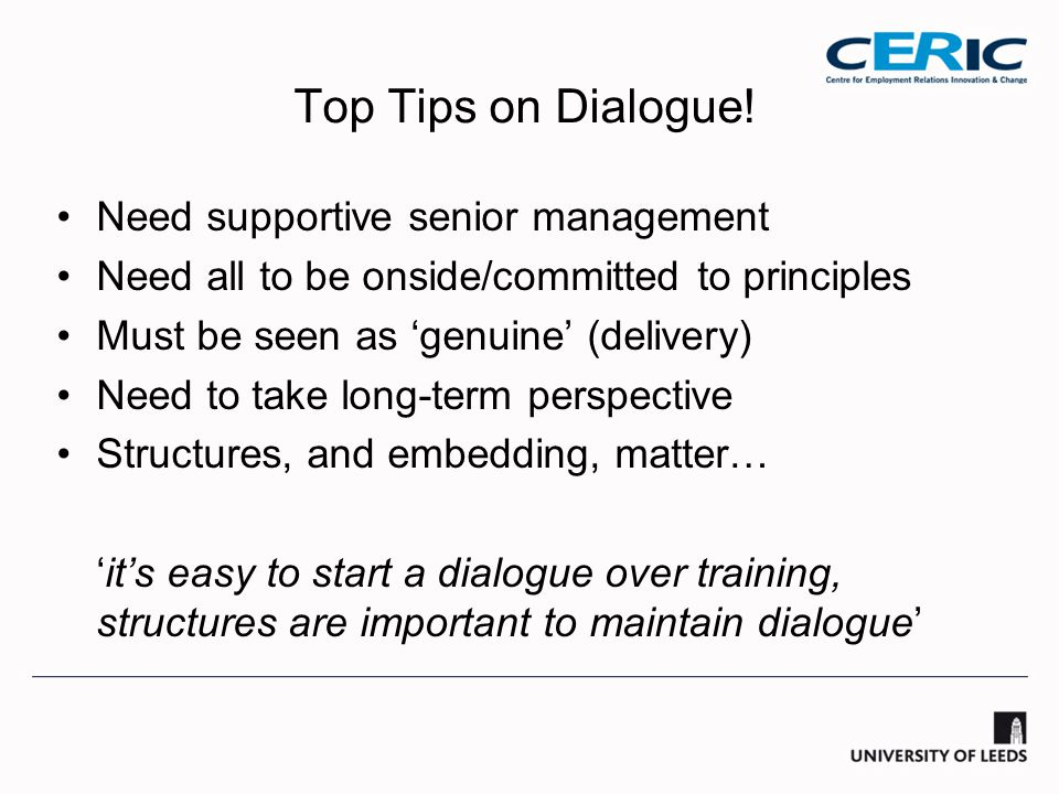 Top Tips on Dialogue.