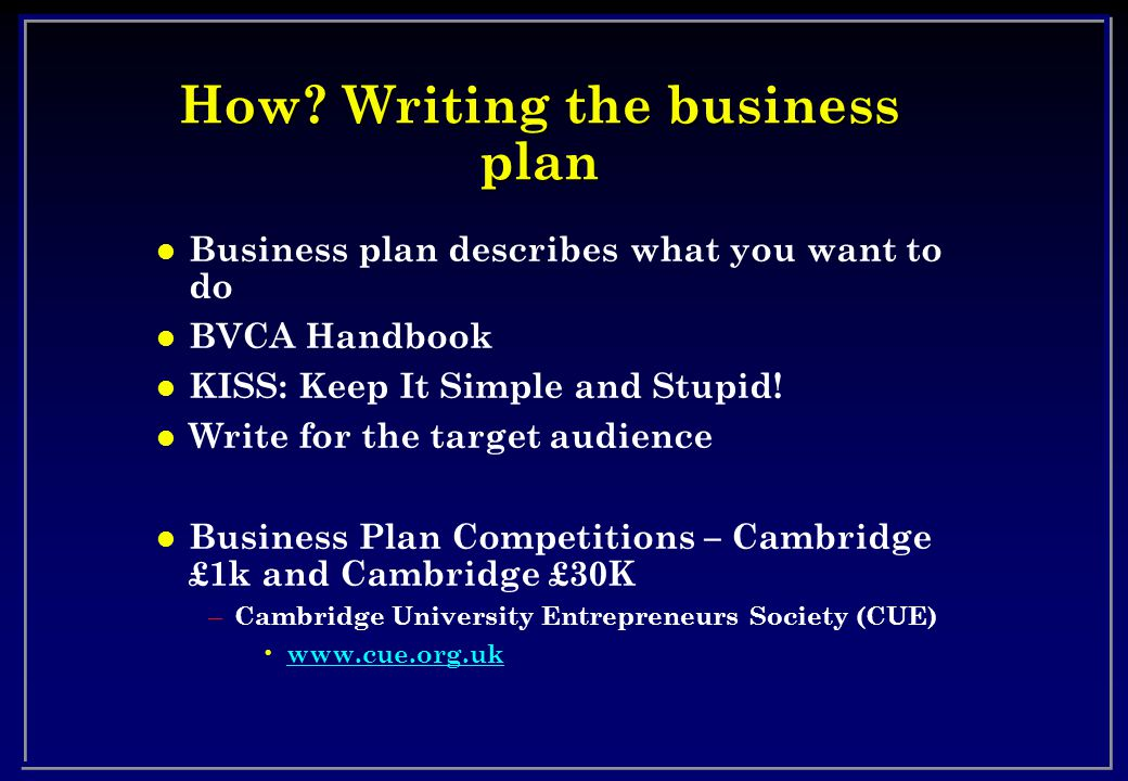 bvca business plan