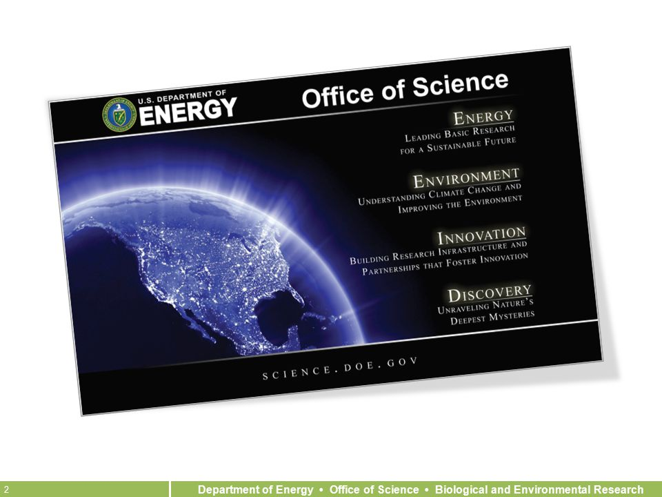 Department of Energy Office of Science Biological and Environmental Research 2