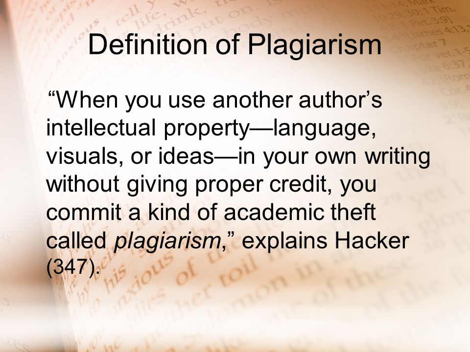 an author commits plagiarism when
