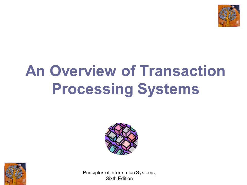 Principles of Information Systems, Sixth Edition An Overview of Transaction Processing Systems