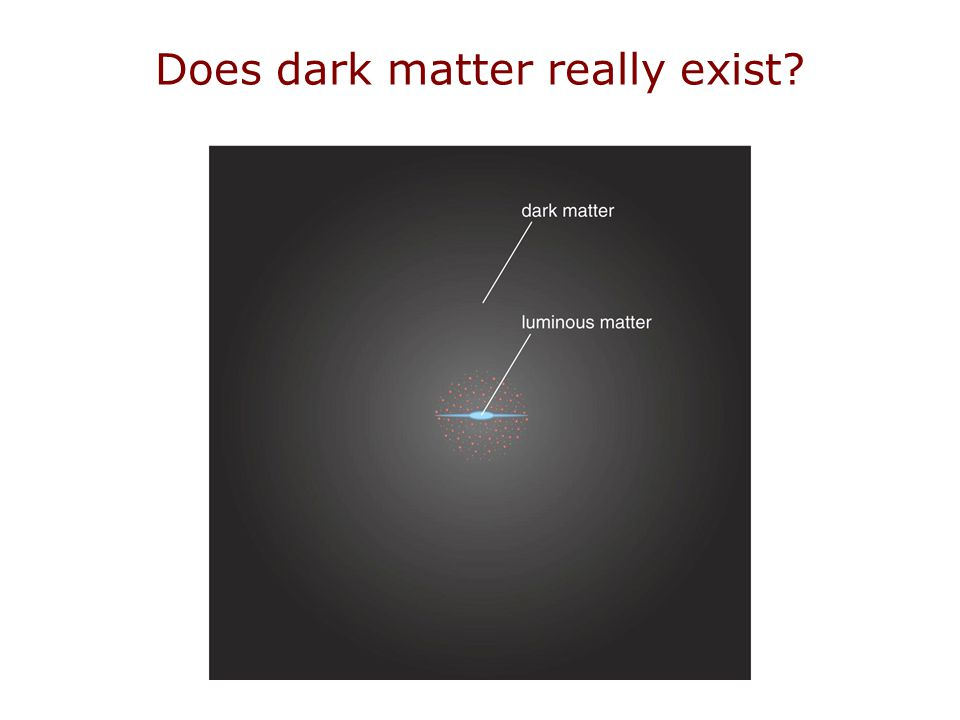 Does dark matter really exist