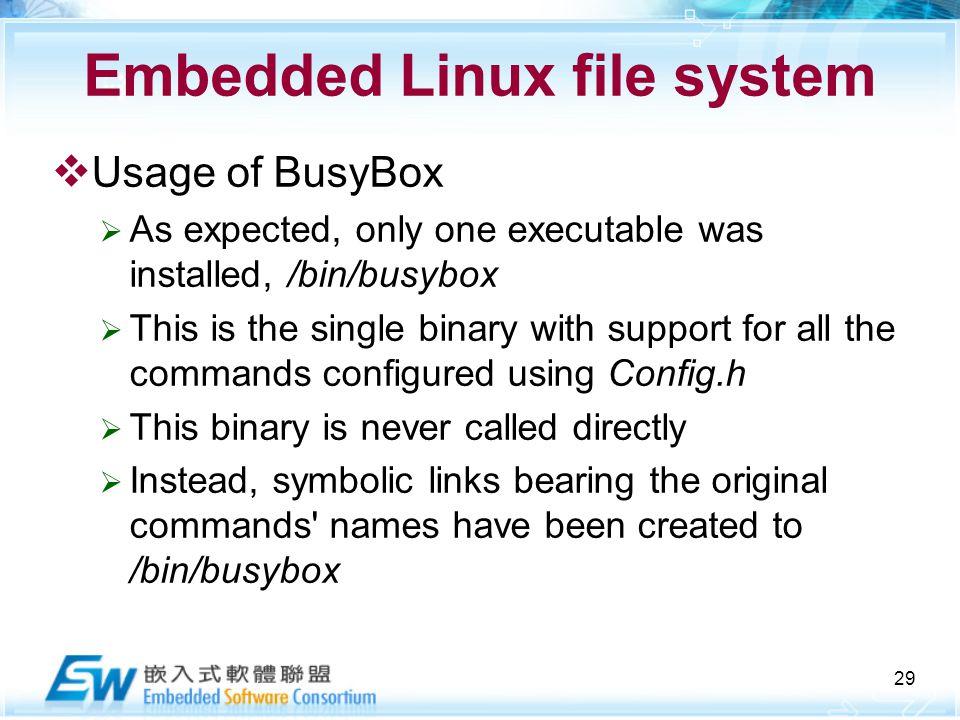 教育部顧問式嵌入式軟體聯盟 Embedded filesystem  2 Outline