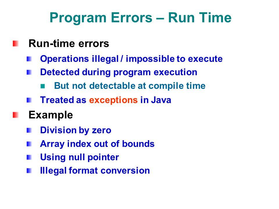 Java Review 2 \u2013 Errors, Exceptions, Debugging Nelson Padua-Perez