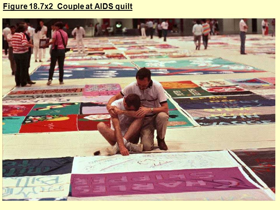 Figure 18.7x2 Couple at AIDS quilt