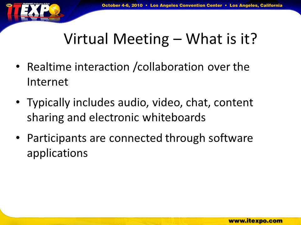 Virtual Meeting – What is it.