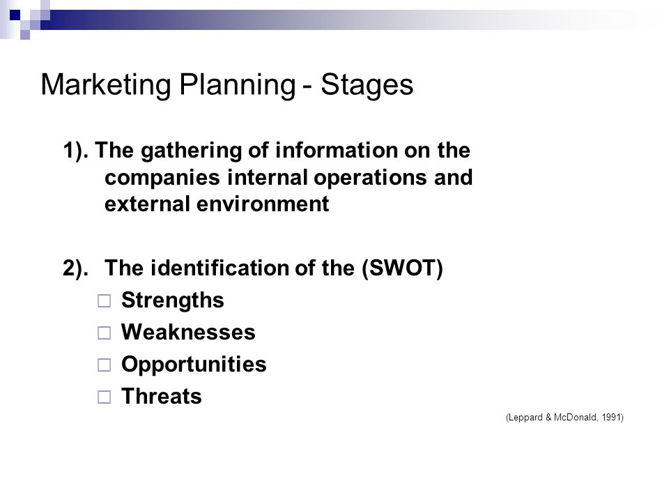 Marketing Planning - Stages 1).