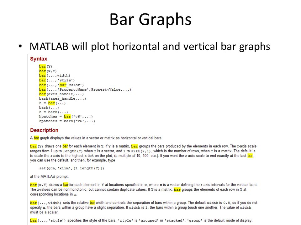 MATLAB Week 3 17 November Outline Graphics – Basic plotting
