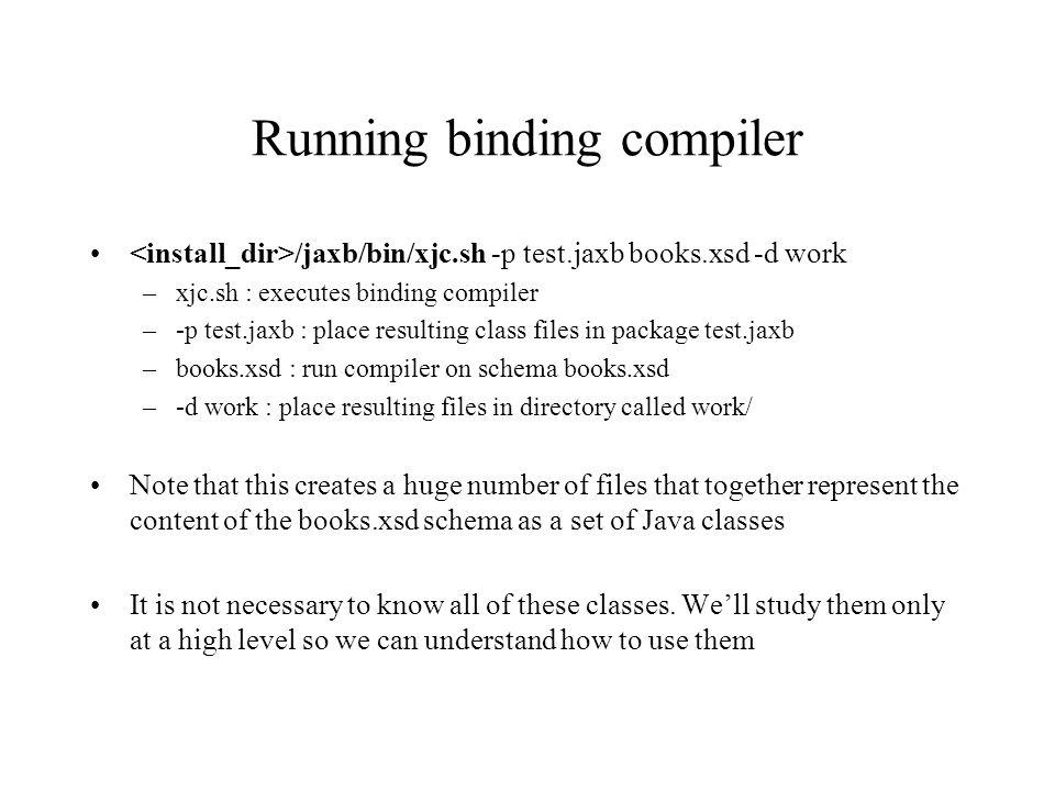JAXB Java Architecture for XML Bindings  What is JAXB? JAXB defines
