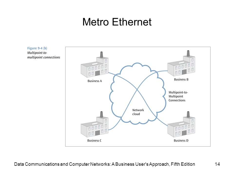 Metro Ethernet 14Data Communications and Computer Networks: A Business User s Approach, Fifth Edition