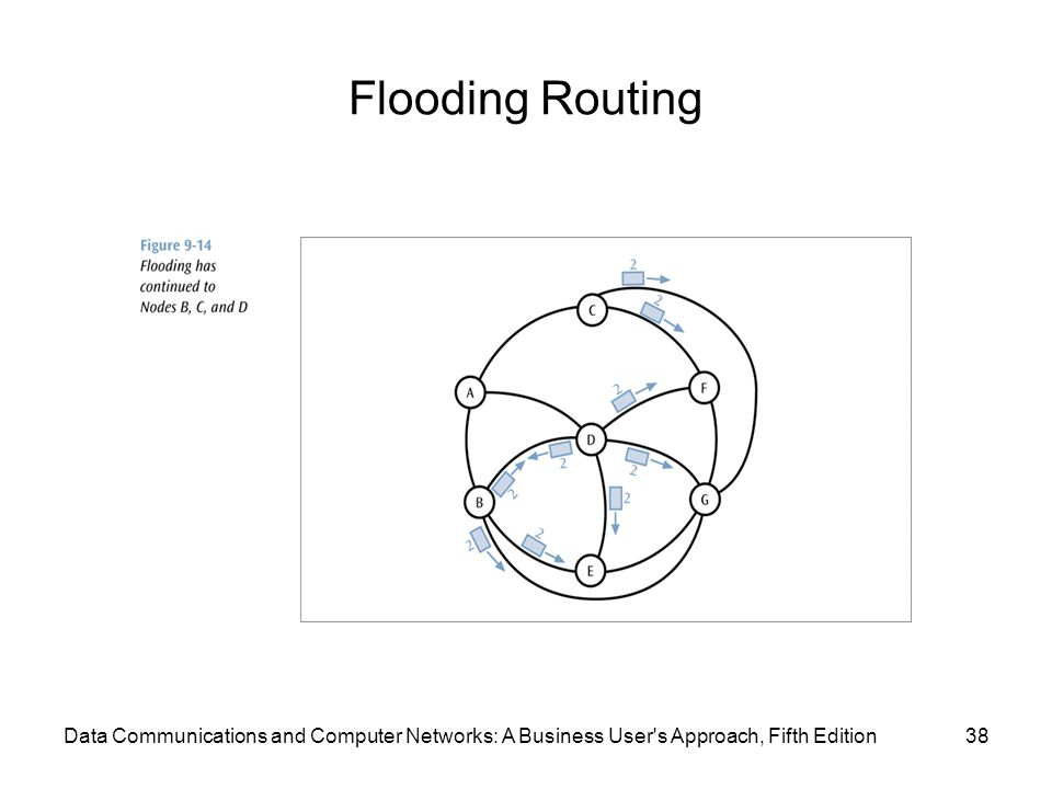 Flooding Routing 38Data Communications and Computer Networks: A Business User s Approach, Fifth Edition