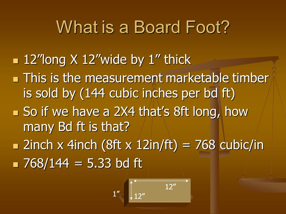 What is a Board Foot.