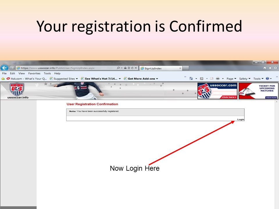 Your registration is Confirmed Now Login Here