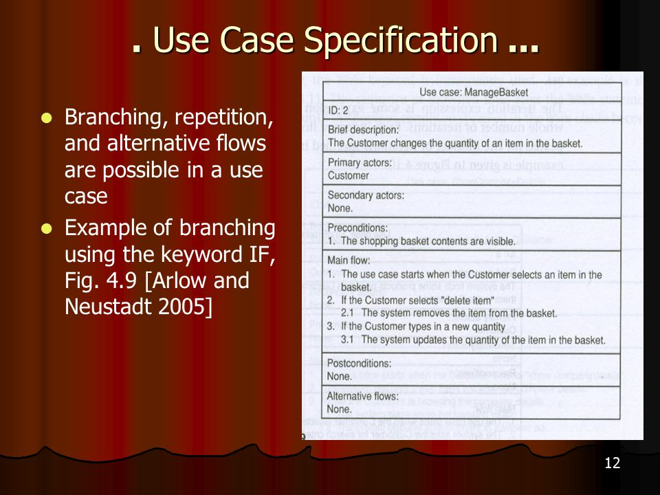 12. Use Case Specification...