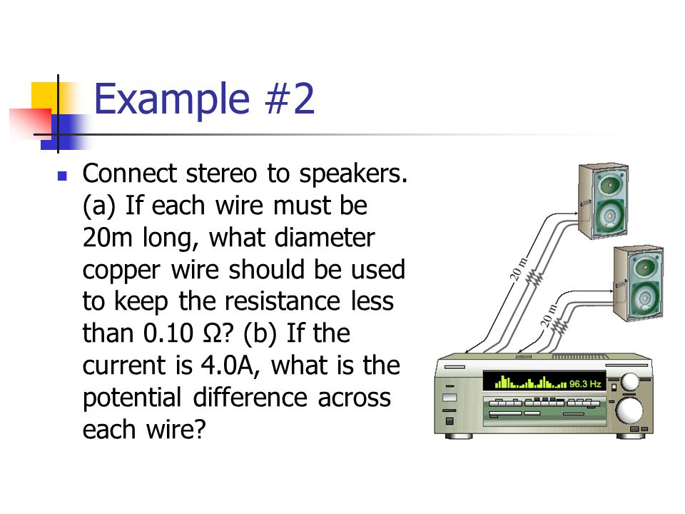 Example #2 Connect stereo to speakers.