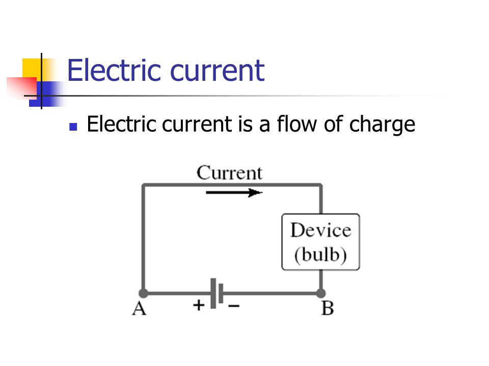 Electric current Electric current is a flow of charge