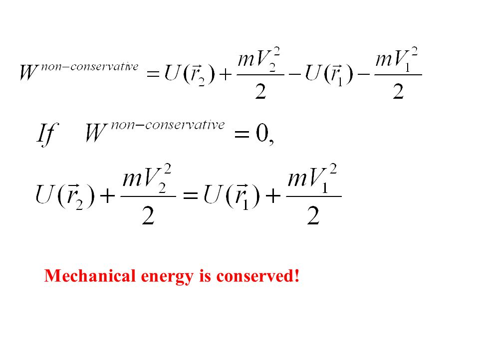 Mechanical energy is conserved!