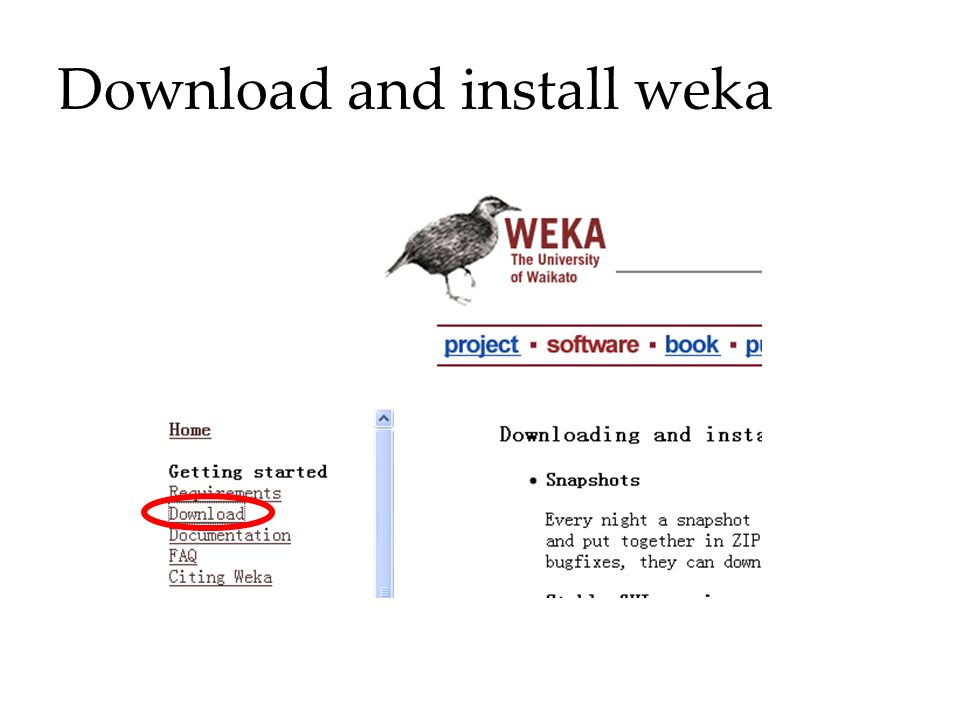 Download and install weka