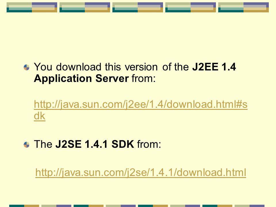 download j2ee 1.4 sample applications