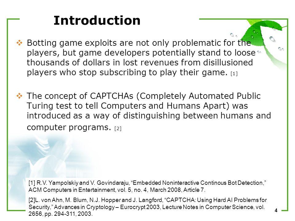 1 CAPTCHA Challenges for Massively Multiplayer Online Games 2010
