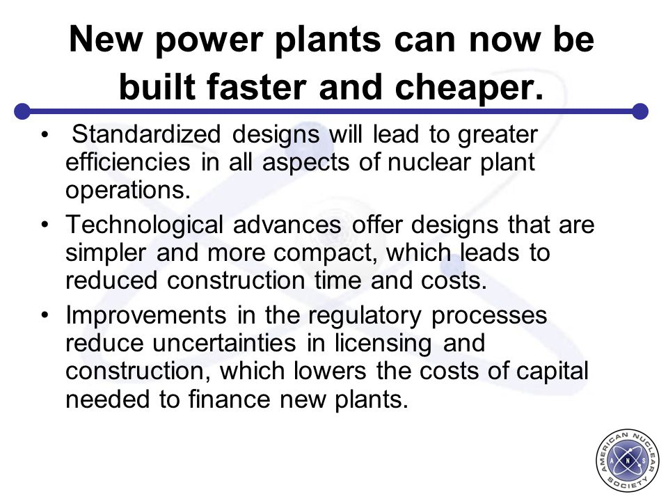 New power plants can now be built faster and cheaper.
