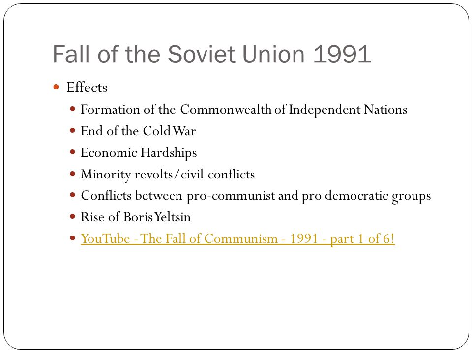 What caused the soviet union to collapse in 1991
