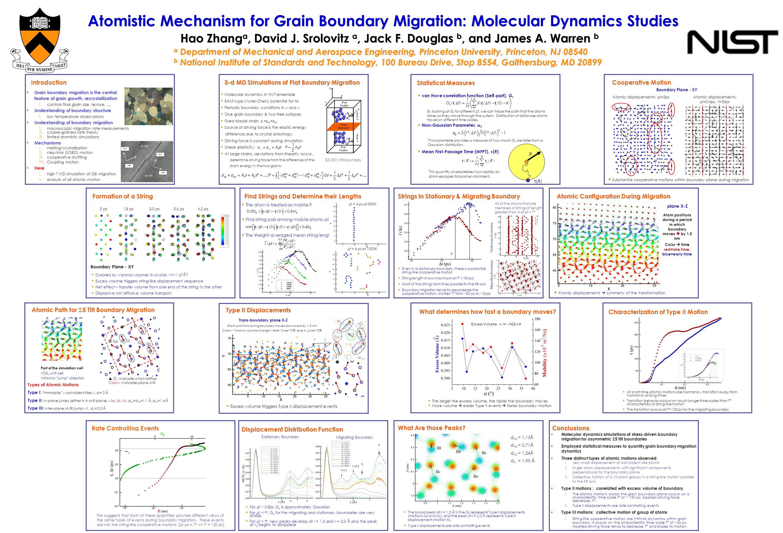 Atomistic Mechanism for Grain Boundary Migration: Molecular