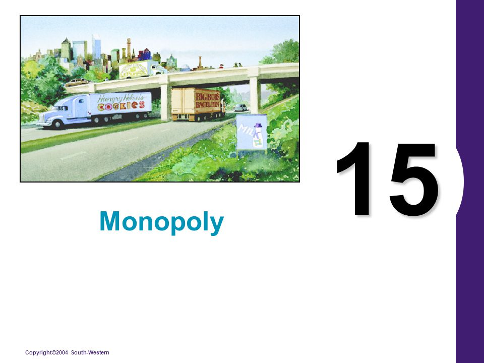 Copyright©2004 South-Western 15 Monopoly