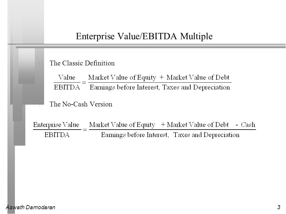 Aswath Damodaran1 Session 16: More Earnings Multiples  - ppt download