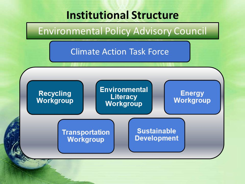 Climate Action Task Force Institutional Structure Environmental Policy Advisory Council