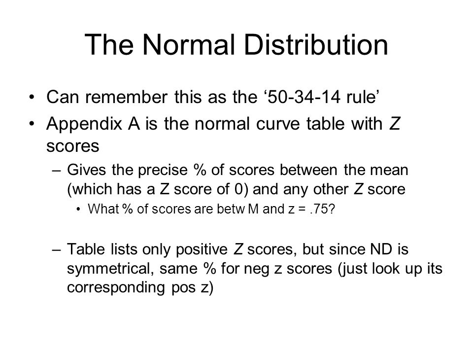 Chapter 3 Z Scores & the Normal Distribution Part ppt download