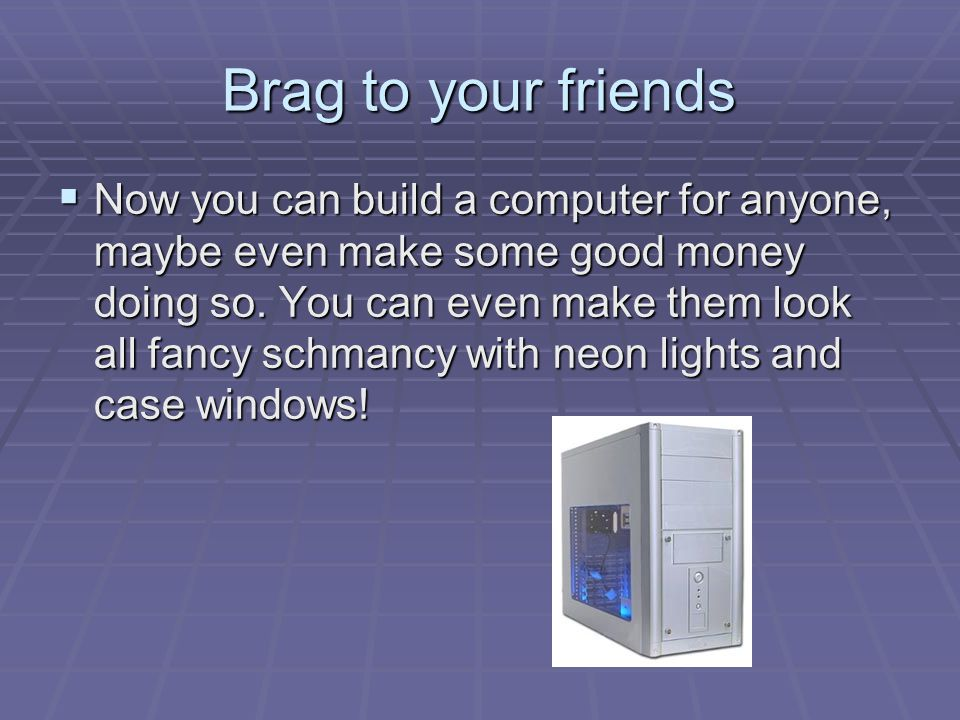 Installing Windows XP  Insert the CD Into your cd-drive  Set Your CD-Drive to boot first in your bios  Restart Computer, press any key to boot from CD  Choose to format your Hard Drive using NTFS on an unpartioned drive space  Follow setup instructions  BAM You got Win XP Baby!