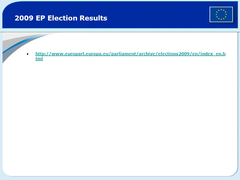 2009 EP Election Results   tmlhttp://  tml