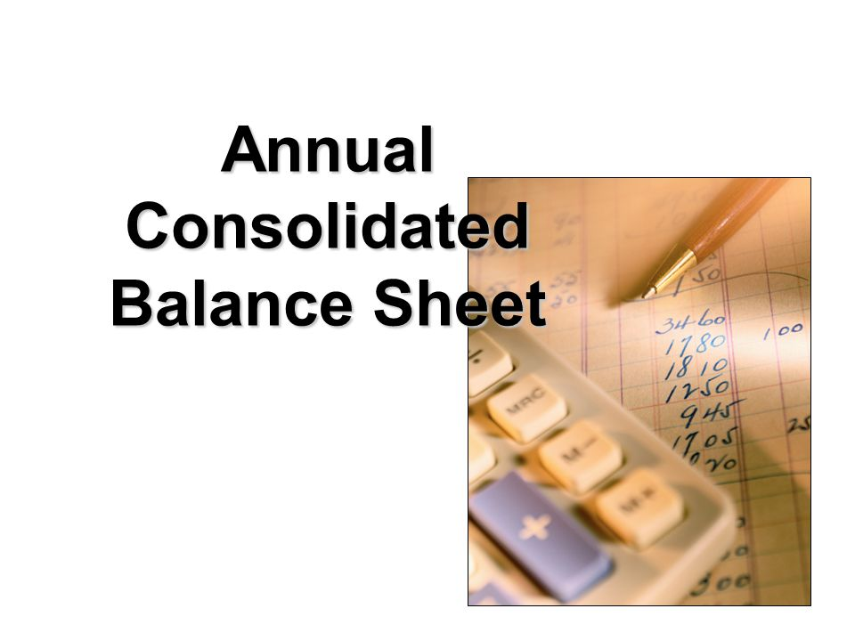 Annual Consolidated Balance Sheet