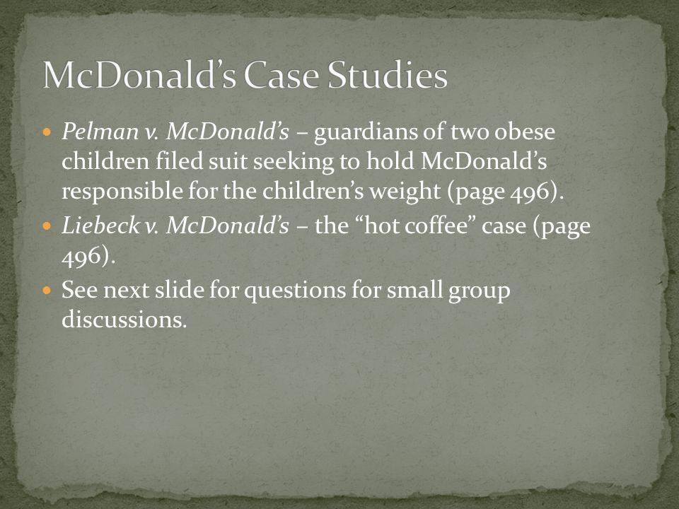 pelman v mcdonalds