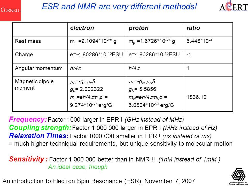 epr vs nmr