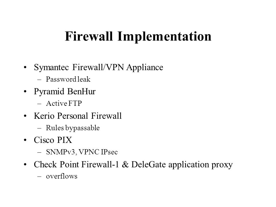 Firewall Vulnerabilities Presented by Vincent J  Ohm  - ppt
