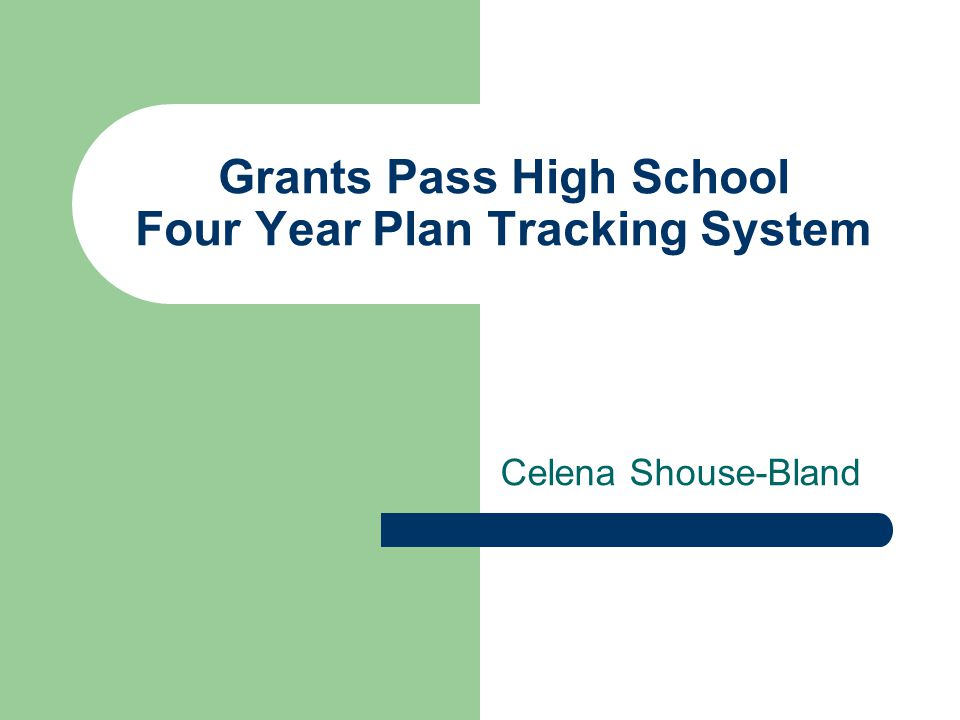 Grants Pass High School Four Year Plan Tracking System Celena Shouse-Bland
