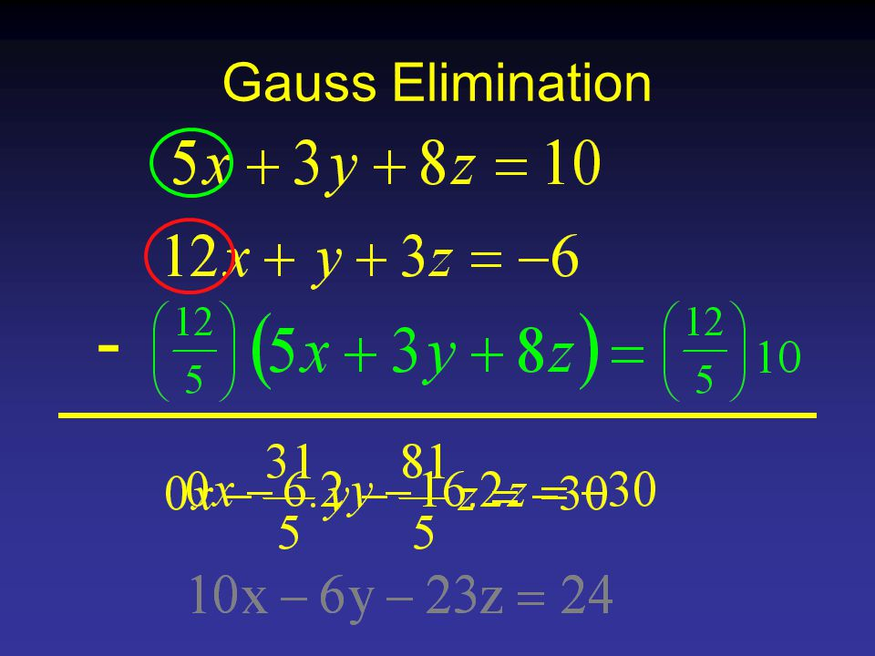 Gauss Elimination -