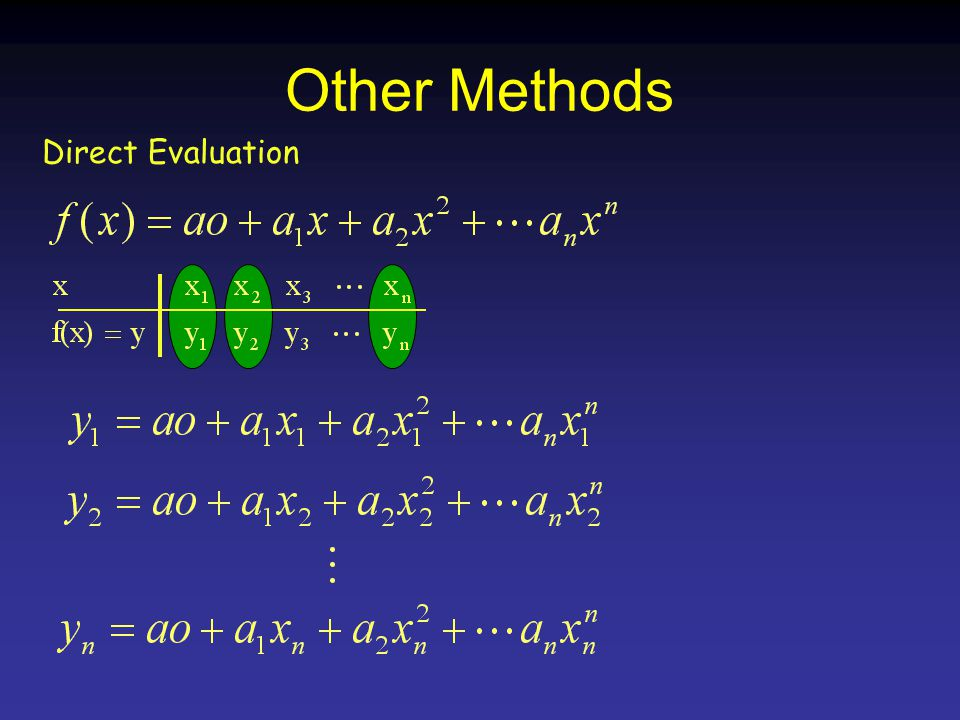 Other Methods Direct Evaluation