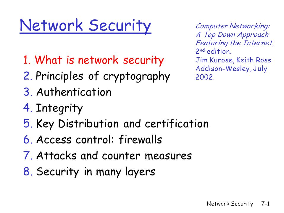 Network Security7 1 Network Security 1 What Is Network Security 2