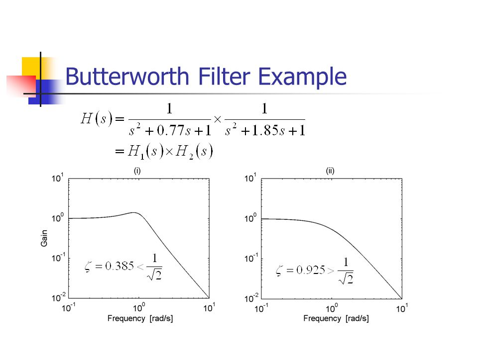 Butterworth Filter Example
