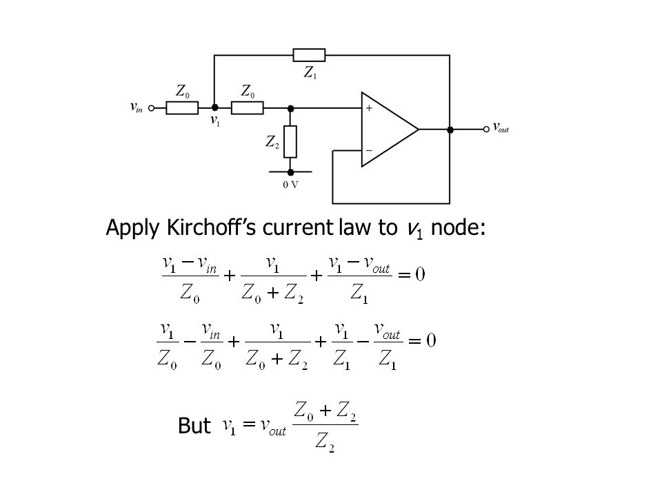 But Apply Kirchoff's current law to v 1 node: