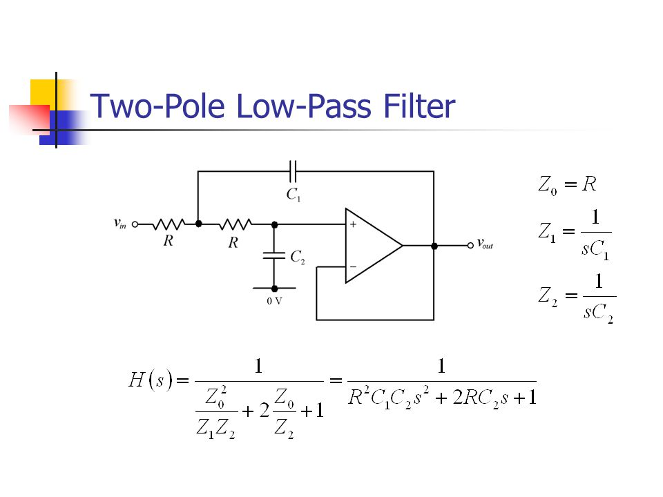 Two-Pole Low-Pass Filter